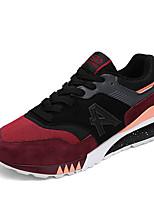 Для мужчин Кеды Удобная обувь С ремешком на лодыжке Тюль Лето Осень Повседневный Черный Темно-синий Серый Черный/Красный 2,5 - 4,5 см