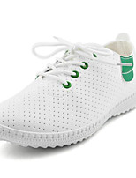 Women's Sneakers Modern/Contemporary PU Spring Summer Casual Flat Heel Green Black Flat