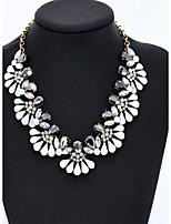 Damen Halsketten Kragen Kristall Imitation Diamant Strass Kreisform Runde Form Krystall GlasBasis Kreisförmiges Blumen Stil Kreis Modisch