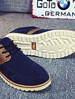 Men's Oxfords Comfort PU Winter Casual Comfort Khaki Blue Black Flat