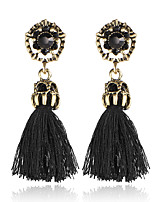Women's Drop Earrings Rhinestone Tassel Alloy Jewelry For Wedding Party Daily Casual