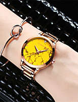 Femme Montre Tendance Quartz Etanche Alliage Bande Or Rose