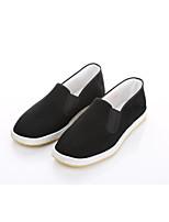Для мужчин Мокасины и Свитер Удобная обувь Светодиодные подошвы Ткань Весна Осень Повседневный Для прогулок На плоской подошве Черный