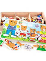 Action Figures & Stuffed Animals Wooden Puzzles Animal Kid Girls' Natural Wood