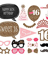 20pcs 16th Birthday Party Photo Booth Props Photobooth Party Decoration