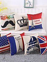 Personality National Flag Design Pillow Case 6 Style Cotton/Linen Pillow Cover