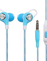 Jy-a6 écouteur intra-auriculaire casque casque casque d'écoute casque avec fil de blé contrôle haute fidélité casque d'écoute