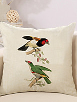 1 Pcs High Quality Simple Birds Printing Pillow Cover Personality Square Sofa Cushion Cover Pillowcase