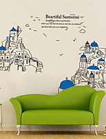 Landscape Wall Stickers Plane Wall Stickers Decorative Wall Stickers,PVC Material Home Decoration Wall Decal