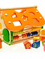 Building Blocks Toy Abacuses Pegged Puzzles For Gift  Building Blocks House Wooden 2 to 4 Years 3-6 years old Toys