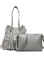 Women Bag Sets PU All Seasons Formal Casual Event/Party Wedding Office & Career Barrel Zipper Gray Blushing Pink Black