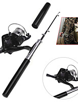 Mini Aluminum Pocket Pen Fishing Rod Pole  Reel Golden Rotate Speed Ratio 5.11 Fishing reel Golden Fibre glas