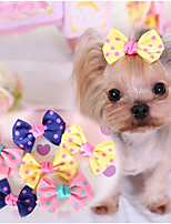 Собаки Аксессуары для шерсти Одежда для собак Милые На каждый день Бант Темно-синий Желтый Розовый