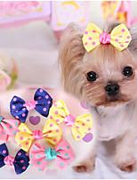 Hunde Fell-Accessoires Hundekleidung Niedlich Lässig/Alltäglich Schleife Dunkelblau Gelb Rosa