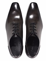 Men's Oxfords Comfort Leather Spring Casual Dark Brown Black Flat