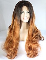 Synthetic Wave Hair Wigs Ombre Auburn Long Wigs For Women Heat Resistant Hot Sale Sexy Wavy Synthetic Fake Hair Wig