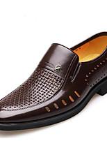 Da uomo Mocassini e Slip-Ons Comoda Pelle Primavera Autunno Casual Comoda Piatto Nero Marrone scuro Meno di 2,5 cm