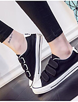 Men's Sneakers Canvas Spring White Black Ruby Flat