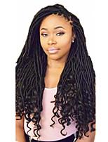 Dread Locks Hair Braid Curly Ombre Braiding Hair Dreadlock Extensions Faux Dreads Crochet Faux Dreads 100% Kanekalon Hair Black/Burgundy