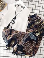 Ensembles Fille Imprimé Polyester Eté Sans Manches Ensemble de Vêtements