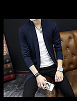 Men's Casual/Daily Sweatshirt Solid Round Neck strenchy Polyester Long Sleeve