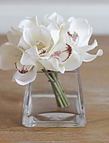 6 Branch True Touch Cymbidium Artificial Flowers