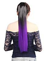 Neitsi 1Pcs 22'' 115g Striaght Wrap Around Ponytail Hair Extensions Synthetic Ombre T-Purple#
