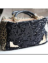 Women Tote PU All Seasons Casual Event/Party Hobo Sequin Zipper Camel