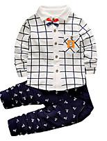 Мальчики Наборы Искусственный шёлк С принтом Весна Осень Длинный рукав Набор одежды