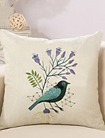 1 Pcs New Design Bird Printing Pillow Cover Classic Square Pillow Case