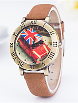 Women's Fashion Watch Quartz PU Band Black Blue Brown Khaki