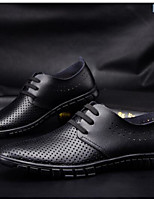 Men's Oxfords Comfort Real Leather Spring Casual Comfort Blue Brown Black Flat