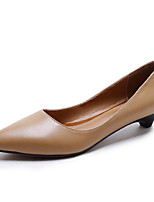 Women's Flats Comfort Cowhide Nappa Leather Spring Casual Light Brown Black Flat
