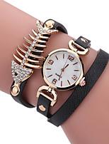 Per donna Da donna Orologio alla moda Orologio casual Orologio da polso Orologio braccialetto Creativo unico orologio Quarzo PU Banda