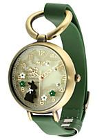 Жен. Модные часы Кварцевый Кожа Группа Черный Зеленый