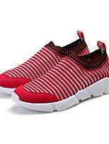 Men's Loafers & Slip-Ons Comfort Fabric Spring Fall Casual Walking Split Joint Flat Heel Red Gray Black 2in-2 3/4in