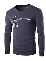 Men's Daily Hoodie Solid Round Neck strenchy Cotton Long Sleeve Spring, Fall, Winter, Summer