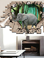 Tiere Wand-Sticker 3D Wand Sticker Dekorative Wand Sticker,Vinyl Stoff Haus Dekoration Wandtattoo