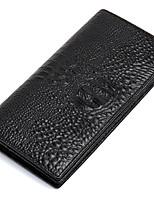 Men Cowhide Wallets Alligator Purse Business Fashion Card Brand Long Organizer Clutch Pouch D6023-1