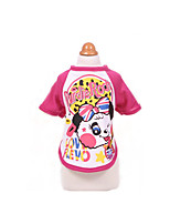Dog Shirt / T-Shirt Dog Clothes Cute Sports Casual/Daily Cartoon Fuchsia Purple