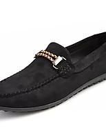 Men's Loafers & Slip-Ons PU Spring Summer Low Heel Black Green Blue Dark Brown Under 1in