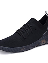 Men's Sneakers Tulle Spring White Black Black/White Flat