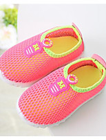Girls' Flats First Walkers Tulle Spring Fall Casual Walking First Walkers Magic Tape Low Heel Green Fuchsia Orange Flat