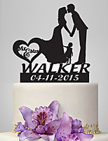 Personalized Acrylic Our Family Wedding Cake Topper