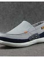 Для мужчин Мокасины и Свитер Удобная обувь Ткань Весна Повседневный Серый Синий На плоской подошве