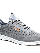 Men's Sneakers Tulle Spring Gray Yellow Blue Flat