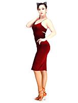 Danse latine Robes Femme Spectacle Modal 1 Pièce Sans manche