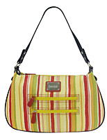 Kate&Co. new cloth with leather handbag shoulder / back diagonal stripes TH-02110
