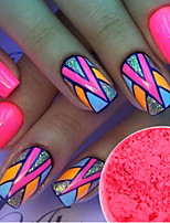1g/Bottle Fashion Sweet Style Nail Art Pink Neon Pigment Neon Effect Power Nail Fluorescent Power Nail DIY Beauty Sweet Decoration YE10