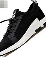 Men's Sneakers Comfort Tulle Spring Casual Black Flat